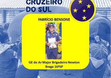 Parabéns ao lobinho Fabríccio Bensone
