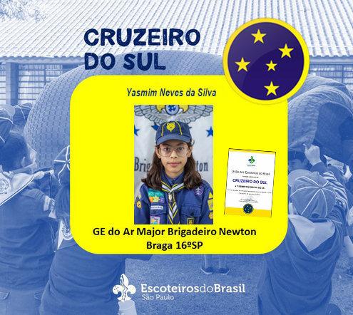 Parabéns ao lobinha Yasmim Neves