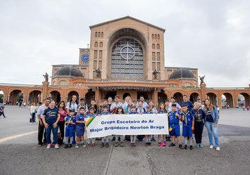 Romaria reúne escoteiros de todo país no Santuário - Dia 31/03/2019