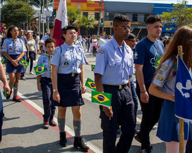 Desfile Cívico de 7 de Setembro - Av. Paulo Faccini - Bosque Maia - Dia 07/09/2019